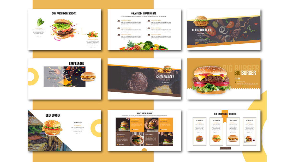Special Burger Free Presentation Template Slide 2