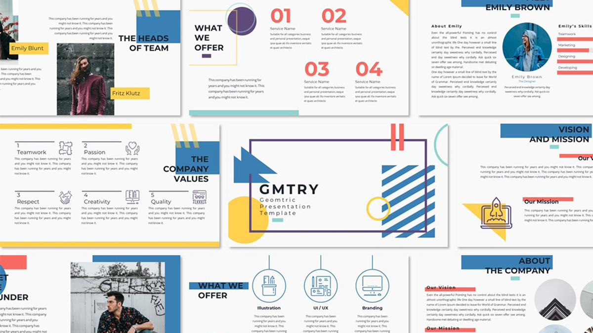 geometric free powerpoint template