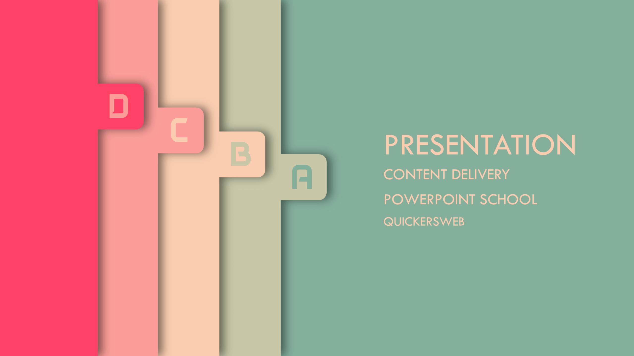 Free Creative PowerPoint Template PowerPoint School