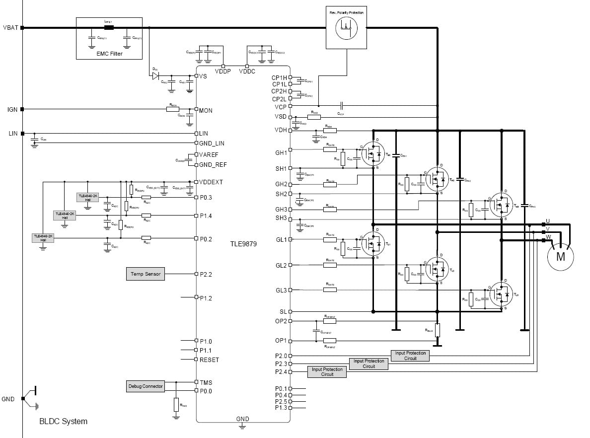3 Phase Bridge Driver With Integrated Arm Cortex M3
