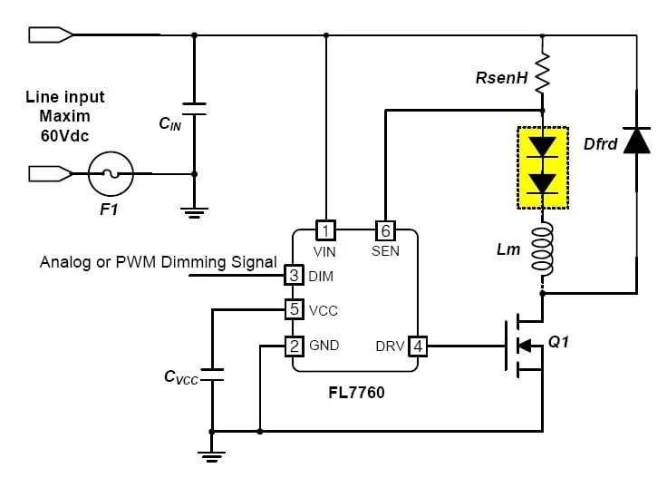 High-Side Sensing CCM Buck Controller for LED Drivers