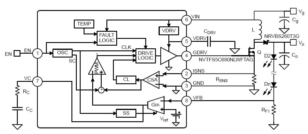 2MHz Automotive Non-Synchronous Boost Controller