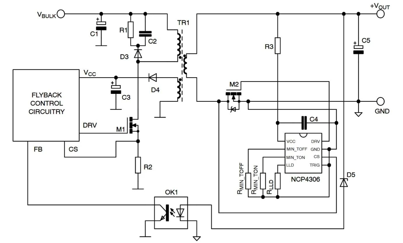 the output adjustable flyback converter