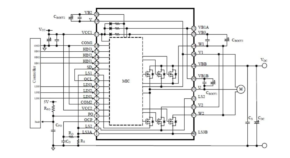 High-Voltage 3-Phase Motor Driver IC with Integrated IGBT