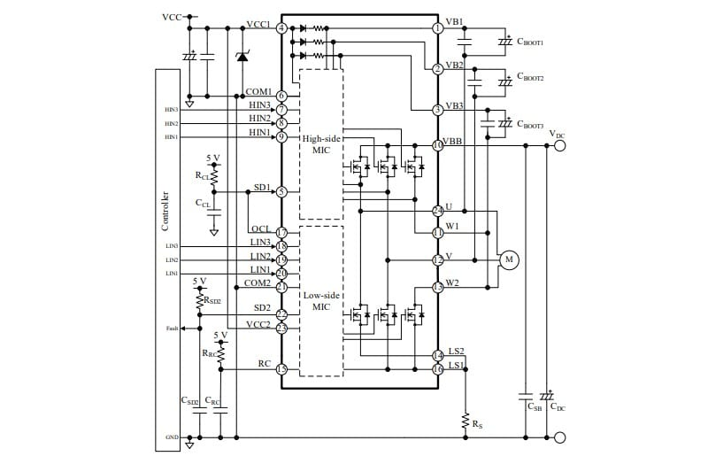 500V 3-Phase Motor Driver ICs Rated from 1A to 3.5A