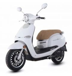trailmaster 2018 turino 50a 50cc moped scooter with retro stylish design 12 wheels  [ 1000 x 1000 Pixel ]