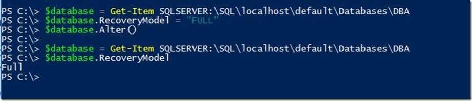 PowerShell-AlterDatabase