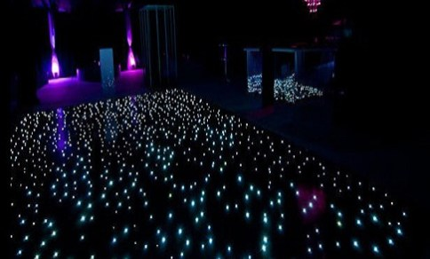 Black LED Dance Floor Hire Dartford