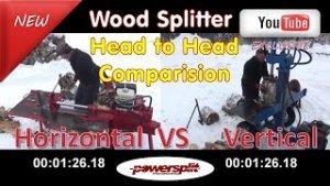 %name head to head horizantal vs vertical wood splitter