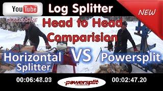 head to head horizantal vs vertical wood splitter