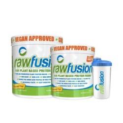זוג אבקות חלבון טבעוניות RAWFUSION + שייקר טבעוני אנטיבקטריאלי מתנה!