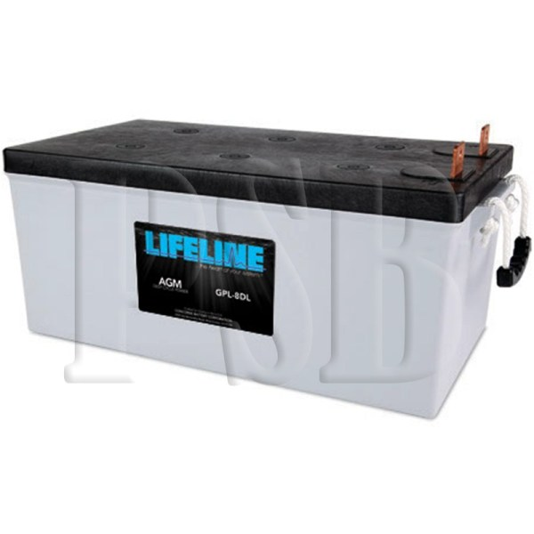 Gpl-8dl Lifeline Oem 12 Volt 255ah 8d Sealed Agm Deep Cycle Marine Battery Free Shipping
