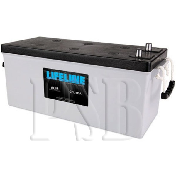 Gpl-4da Lifeline Oem 12 Volt 210ah 4d Sealed Agm Deep Cycle Marine Battery Free Shipping