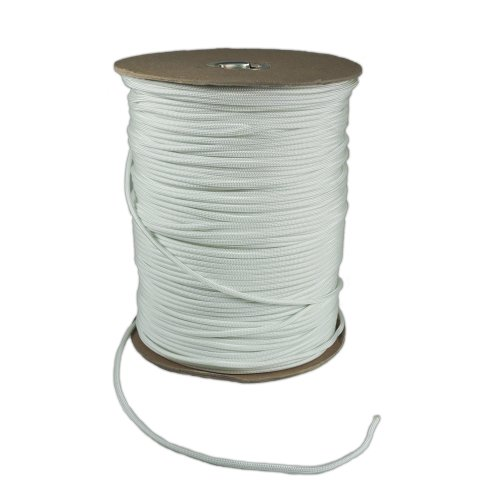 1000-Foot-Spool-White-Parachute-Cord-7-Strand-Core-550-Cord-0-0