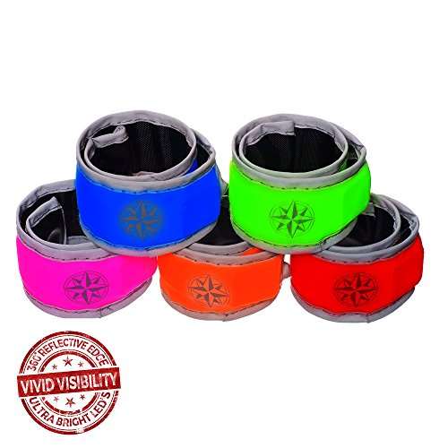 2-Pack-LED-Slap-Bands-With-Reflective-Edge-Night-Running-Safety-Free-Batteries-Pouch-3-Glowing-LED-Modes-for-Jogging-Cycling-Walking-0