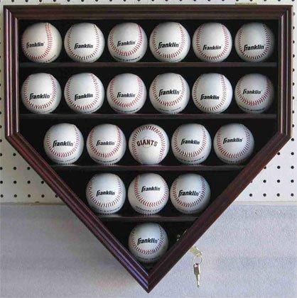 21-MLB-Baseball-Display-Case-Cabinet-Holder-wUV-Protection-Lockable-CHERRY-Finish-0-0