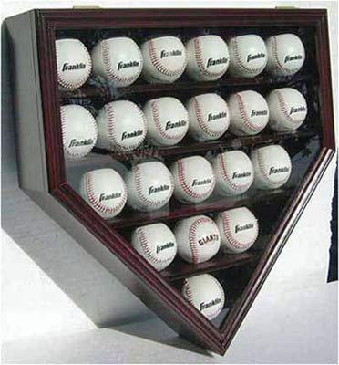 21-MLB-Baseball-Display-Case-Cabinet-Holder-wUV-Protection-Lockable-CHERRY-Finish-0-1
