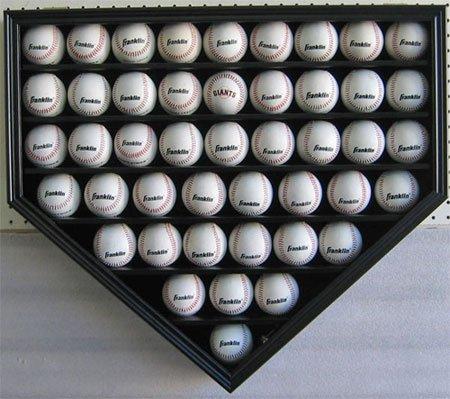 46-MLB-Baseball-Display-Case-Holder-Wall-Mounted-Cabinet-98-UV-Protection-Lock-Black-Finish-B46-BL-0-0