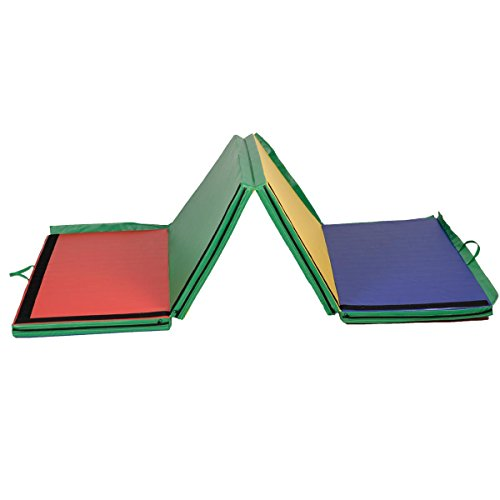 4x10x2-Thick-Folding-Panel-Gymnastics-Mat-Gym-Fitness-Exercise-Multicolor-0-1