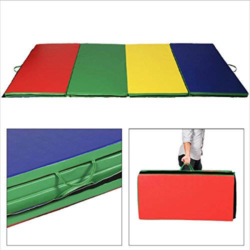 4x10x2-Thick-Folding-Panel-Gymnastics-Mat-Gym-Fitness-Exercise-Multicolor-0