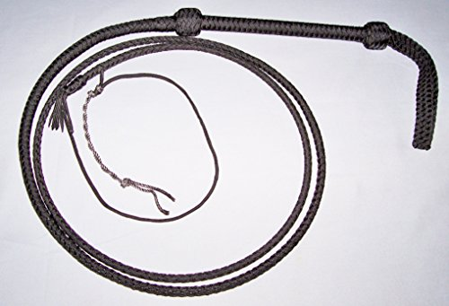 7Ft-6-Plait-Black-Nylon-Bullwhip-with-Cable-Core-Whip-Bull-Whip-CW11-0-0