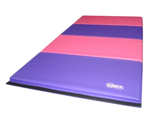 8ft-x-4ft-Firm-Folding-Gymnastics-Mat-PinkPurple-0