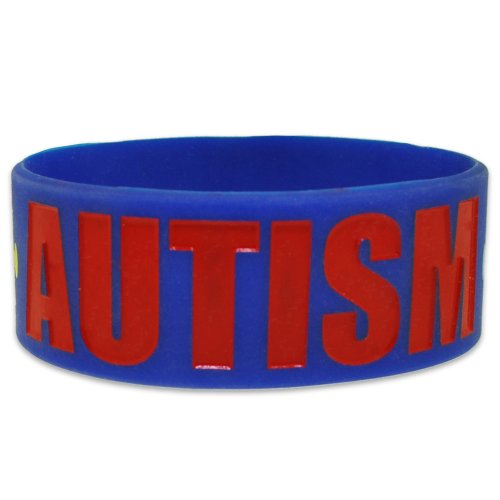 Autism-Awareness-Puzzle-Piece-Wide-Rubber-Silicone-Bracelet-0-0