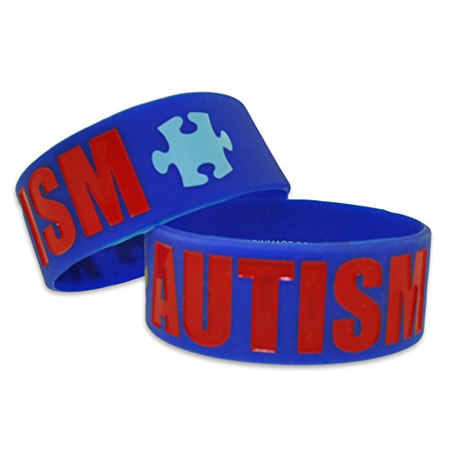 Autism-Awareness-Puzzle-Piece-Wide-Rubber-Silicone-Bracelet-0-1