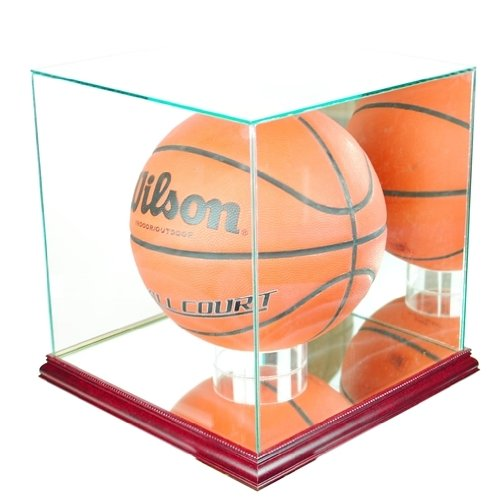 Basketball-Display-Case-with-Glass-Top-and-Wood-Base-0-0