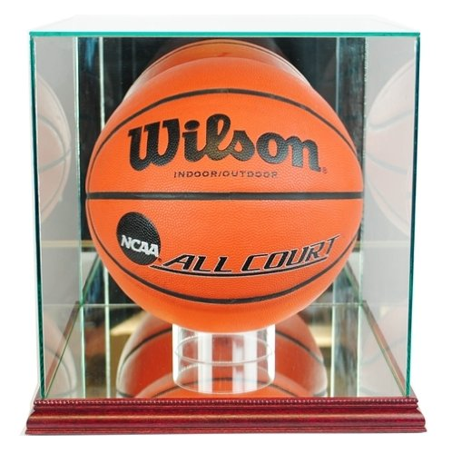 Basketball-Display-Case-with-Glass-Top-and-Wood-Base-0