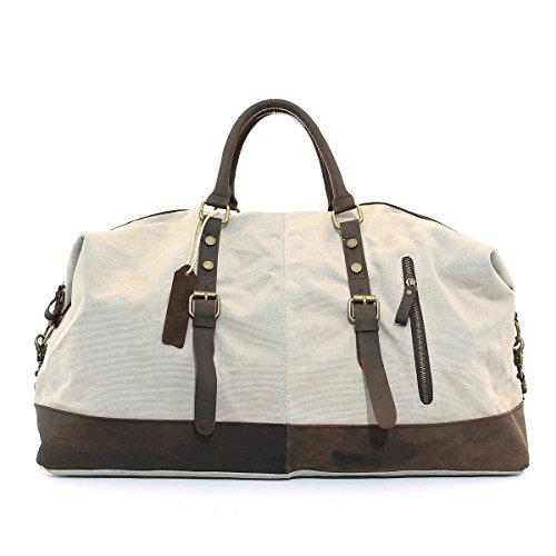 CLELO-B305-Casual-Canvas-Weekender-Gym-Bag-Travel-Duffle-Bag-0-0