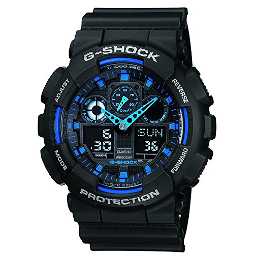 Casio-G-Shock-GA100-1A2-Ana-Digi-Speed-Indicator-Black-Dial-Mens-Watch-0