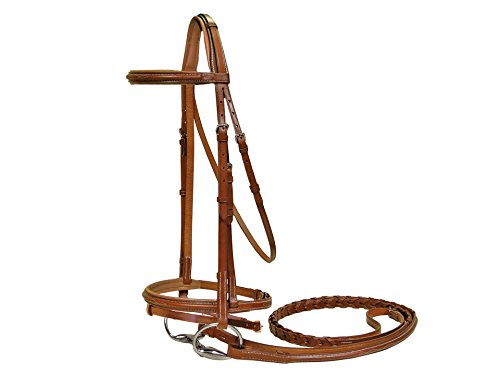 Derby-Originals-Paris-Tack-Padded-Raised-Bridle-with-Laced-Reins-0