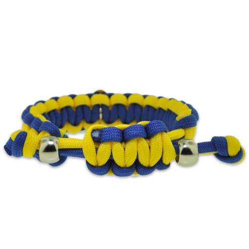 Down-Syndrome-Blue-and-Yellow-w-Awareness-Ribbon-Paracord-Adjustable-Bracelet-0-0