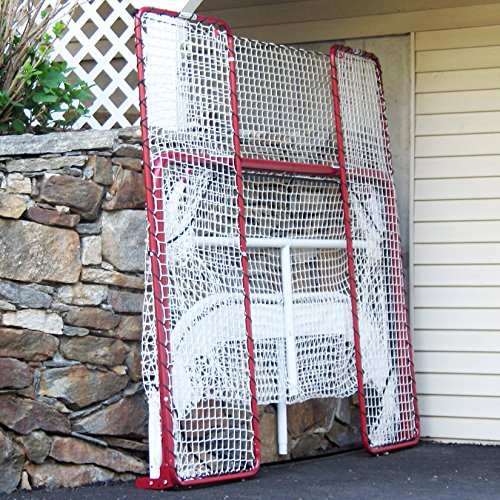 EZGoal-Hockey-Folding-Pro-Goal-with-Backstop-and-Targets-2-Inch-RedWhite-0