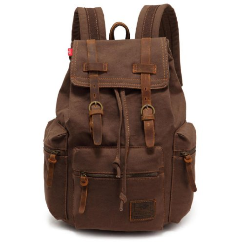EcoCity-Vintage-Canvas-Backpack-Rucksack-Casual-Daypacks-0