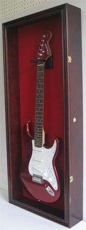 Electric-Fender-Guitar-Display-Case-Cabinet-Wall-Hanger-Rack-Lockable-Door-Mahogany-GTAR2R-MA-0-0