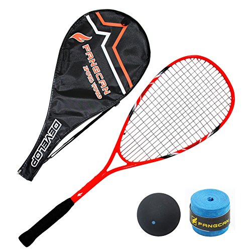 FANGCAN-FCSQ-01-CarbonAl-Squash-Racket-with-Cover-for-Beginner-Orange-0