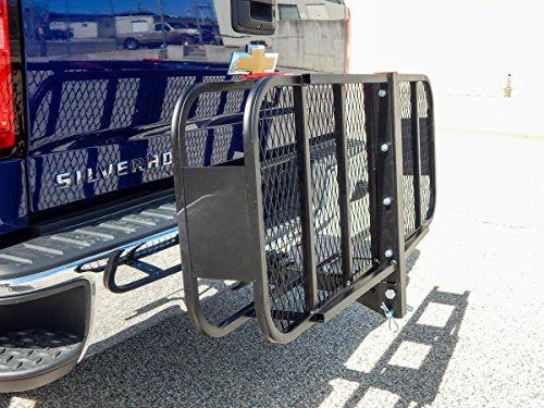 Folding-Cargo-Carrier-Luggage-Rack-Hauler-Truck-or-Car-Hitch-2-Receiver-Foldable-0-0