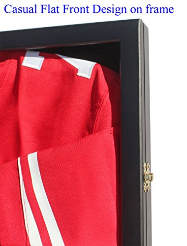 Football-Baseball-Basketball-Cloth-Jersey-XL-Display-Case-98-UV-Protection-Shadow-Box-JC34-BLACK-0-0