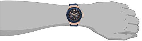 GUESS-Mens-U0247G3-Rigor-Blue-Rose-Gold-Tone-Silcone-Casual-Sport-Watch-0-0