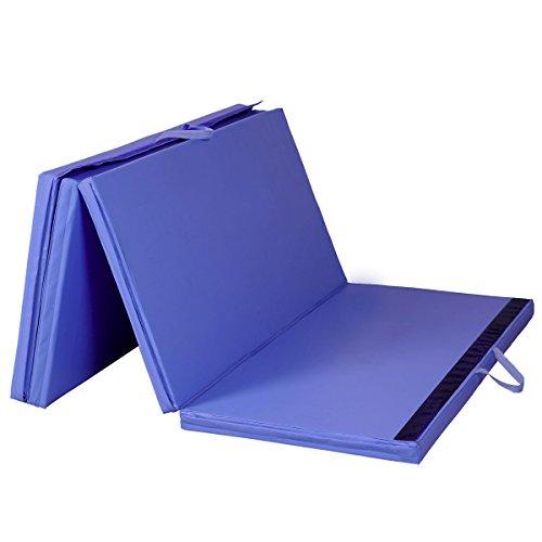 Giantex-Blue-4x8x2-Thick-Folding-Panel-Gymnastics-Mat-Gym-Fitness-Exercise-Mat-0-0