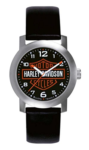 Harley-Davidson-Bulova-Menss-Bar-Shield-Logo-Watch-Tried-0