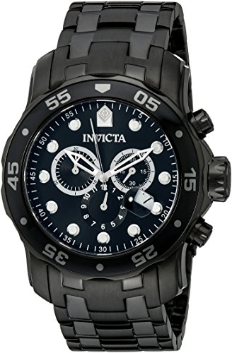 Invicta-Mens-0076-Pro-Diver-Collection-Chronograph-Black-Ion-Plated-Stainless-Steel-Watch-0