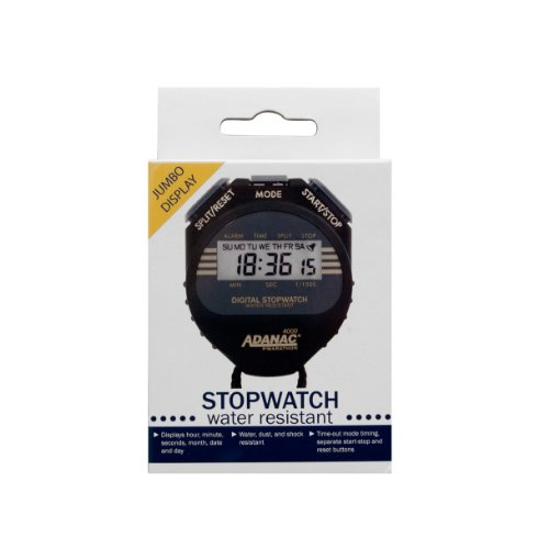 MARATHON-Adanac-4000-Digital-Stopwatch-Timer-with-Extra-Large-Display-and-Buttons-Water-Resistant-One-Year-Warranty-0-0