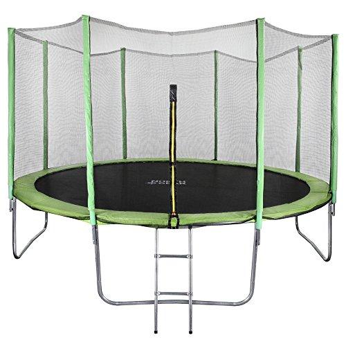 North-Gear-14-Foot-Trampoline-Set-with-Safety-Enclosure-and-Ladder-0