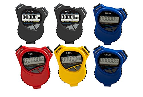 Oslo-6-Pack-Assortment-Dual-StopwatchCountdown-Timer-0
