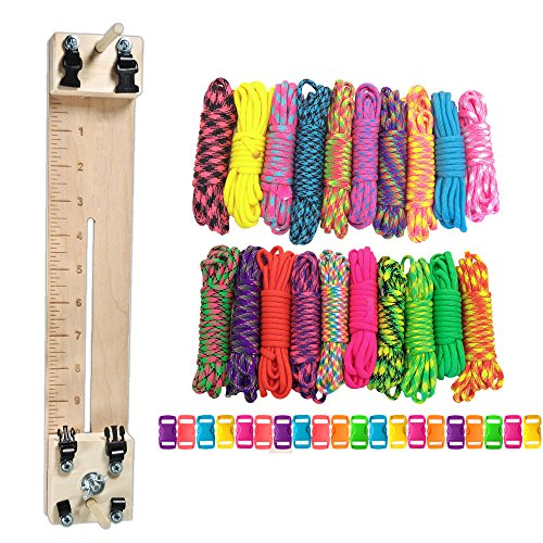 Paracord-Planet-550-lb-Type-III-Paracord-Combo-Crafting-Kit-with-a-10-Pocket-Pro-Jig-Additional-Monkey-Fist-Jig-Option-0