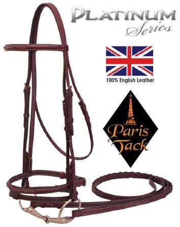 Paris-Tack-Fancy-Stitch-Bridle-with-Flash-Laced-Reins-Platinum-Series-Full-Havana-0