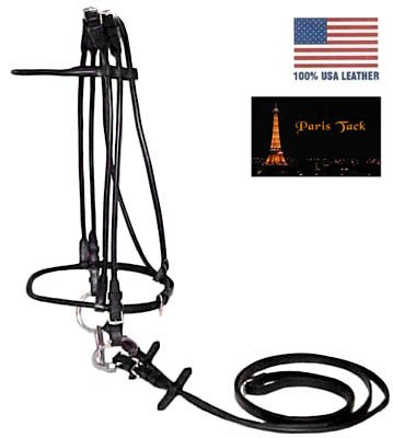 Paris-Tack-Opulent-Series-Rolled-USA-Leather-Dressage-English-Horse-Show-Bridle-with-Rolled-Reins-50-Off-Super-Sale-0-0